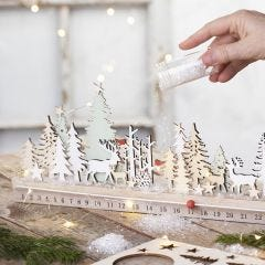 Een houten adventskalender