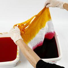 Tie-dye met de  dip & dye techniek