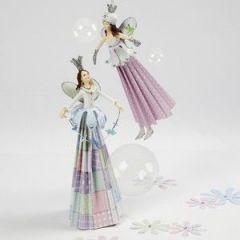 Feeën met jurken van papier