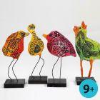 Vogels van gipsgaas met A-Color Glasverf