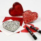 Gedecoreerd glazen hart voor Valentijn