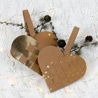 Gevlochten kerst hart van Faux Leather Papier