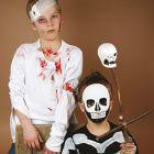 Halloween – wondenschmink en skeletkostuum