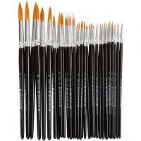 Gold Line penselen, rond, afm 0+1+2+4+8+12+18+22, B: 1,5-8 mm, 36 stuk/ 1 doos