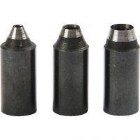 Punten, gatgrootte 2+3+4 mm, 3 stuk/ 1 doos