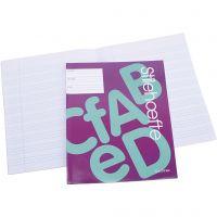 Werkboek met gelinieerd papier, A5, afm 14,8x21 cm, 32 , 25 stuk/ 1 doos