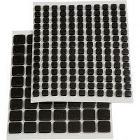 3D Foam Squares, afm 5x5x2 mm, zwart, 217 div/ 1 doos