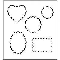 Snijmal, vorm met ronde randen, afm 14x15,25 cm, dikte 15 mm, 1 stuk