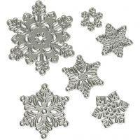 Snijmal, sneeuwvlokken, d: 2-6 cm, 1 stuk