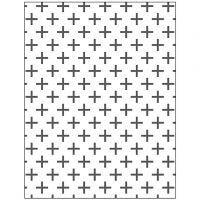Embossing Folder , kruizen, afm 11x14 cm, dikte 2 mm, 1 stuk