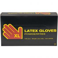 Latex handschoenen, afm x-large , 100 stuk/ 1 doos