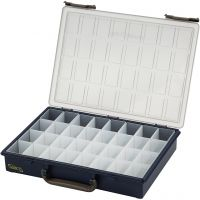 Opslag box, 32 losse vakken, H: 5,7 cm, afm 33,8x26,1 cm, 1 stuk