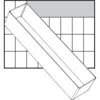 Inzet Box, afm A8-3, H: 47 mm, afm 235x55 mm, 1 stuk
