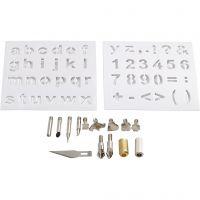 Punten van metaal / Stempels, d: 1-15 mm, 1 set