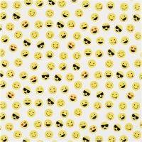Inpakpapier, Smiley, B: 57 cm, 80 gr, 150 m/ 1 rol