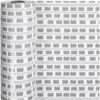Inpakpapier, badhuis, B: 57 cm, 80 gr, zwart, wit, 150 m/ 1 rol