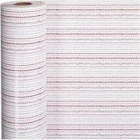 Inpakpapier, doodles, B: 57 cm, 80 gr, rood, wit, 150 m/ 1 rol