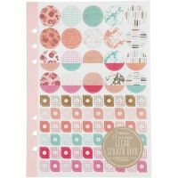 Stickerboek, aquarel, A5, goud, rood, koraal, 1 stuk/ 1 doos