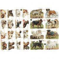 Vintage plaatjes, honden, 16,5x23,5 cm, 2 vel/ 1 doos
