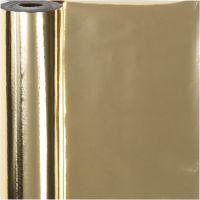Cadeaupapier, B: 50 cm, 65 gr, goud, 100 m/ 1 rol