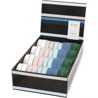 Cadeaulint, B: 18 mm, diverse kleuren, 40x25 m/ 1 doos