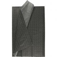 Tissuepapier, 50x70 cm, 17 gr, zwart, 6 vel/ 1 doos
