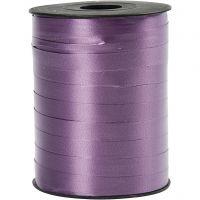 Cadeaulint, B: 10 mm, glossy, paars, 250 m/ 1 rol