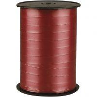 Cadeaulint, B: 10 mm, glossy, robijnrood, 250 m/ 1 rol