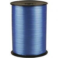 Cadeaulint, B: 10 mm, glossy, blauw, 250 m/ 1 rol