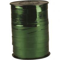 Cadeaulint, B: 10 mm, glossy, groen metallic, 250 m/ 1 rol