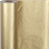 Cadeaupapier, B: 50 cm, 60 gr, goud, 100 m/ 1 rol