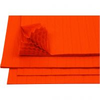 Harmonica papier, 28x17,8 cm, oranje, 8 vel/ 1 doos