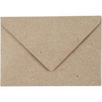 Gerecyclede Enveloppen, afmeting envelop 7,8x11,5 cm, 120 gr, beige, 50 stuk/ 1 doos
