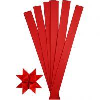 Vlechtstroken, L: 73 cm, d: 11,5 cm, B: 25 mm, rood, 100 stroken/ 1 doos