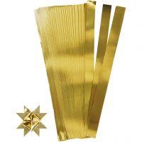 Vlechtstroken, L: 73 cm, d: 11,5 cm, B: 25 mm, goud, 100 stroken/ 1 doos
