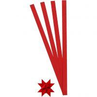 Vlechtstroken, L: 45 cm, B: 10 mm, d: 4,5 cm, rood, 100 stroken/ 1 doos