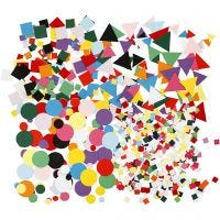 Karton mozaiek, afm 10+15+20 mm, diverse kleuren, 8x180 gr/ 1 doos