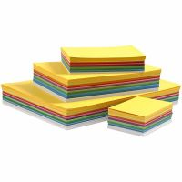 Lente karton, A3,A4,A5,A6, 180 gr, diverse kleuren, 1500 div vellen/ 1 doos