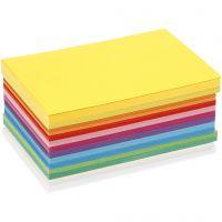Lente karton, A6, 105x148 mm, 180 gr, diverse kleuren, 300 div vellen/ 1 doos