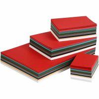 Kerst karton, A3,A4,A5,A6, 180 gr, diverse kleuren, 1500 div vellen/ 1 doos