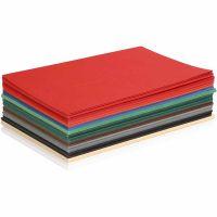 Kerst karton, A5, 148x210 mm, 180 gr, diverse kleuren, 300 div vellen/ 1 doos