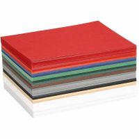 Kerst karton, A6, 105x148 mm, 180 gr, diverse kleuren, 300 div vellen/ 1 doos