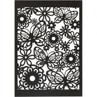 Patroonkarton, 10,5x15 cm, 200 gr, zwart, 10 stuk/ 1 doos