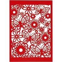 Patroonkarton, 10,5x15 cm, 200 gr, rood, 10 stuk/ 1 doos