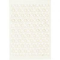 Patroonkarton, 10,5x15 cm, 200 gr, off-white, 10 stuk/ 1 doos