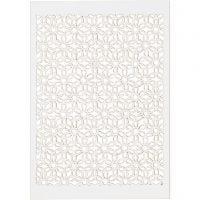 Patroonkarton, 10,5x15 cm, 200 gr, wit, 10 stuk/ 1 doos