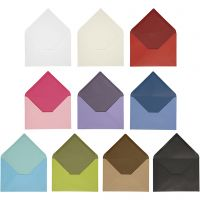 Envelop, afmeting envelop 11,5x16 cm, Inhoud kan variëren , 100 gr, diverse kleuren, 30 doos/ 1 doos