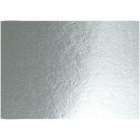 Metallic Foliekarton, A4, 210x297 mm, 280 gr, zilver, 10 vel/ 1 doos