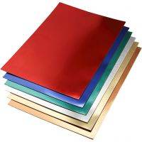 Metallic Foliekarton, A2, 420x600 mm, 280 gr, diverse kleuren, 30 div vellen/ 1 doos