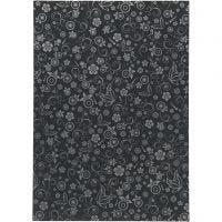 Papier, A4, 210x297 mm, 80 gr, zwart, 20 vel/ 1 doos